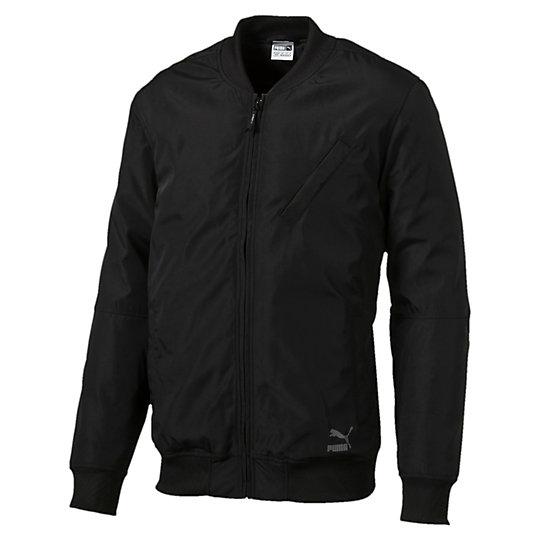 Куртка Evo Core BomberОлимпийки<br>Куртка Evo Core Bomber<br>Знакомьтесь с коллекцией Evo. Она создана для повседневной носки, но высокотехнологичные детали, созданные для активного отдыха, добавляют ей спортивного шика. Эта куртка-бомбер сделана из водоотталкивающего материала для защиты от непогоды и дополнена стильным бейсбольным воротником и диагональным боковым карманом.<br><br>Коллекция: Осень-зима 2016<br>Состав: 100% полиэстер; водонепроницаемое покрытие<br>Бейсбольный воротник<br>Застежка-молния на всю длину<br>Логотип PUMA Archive на груди слева<br>Диагональный боковой карман на груди<br>Страна-производитель: Тайвань<br><br><br>size RU: 52-54<br>gender: Male
