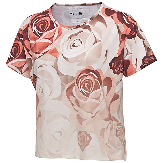 プーマ PUMA X CAREAUX LOGO TEE ウィメンズ Porcelain Rose-FLOWER AOP