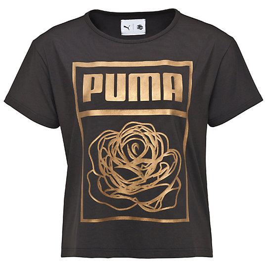 Футболка PUMA X CAREAUX Logo TeeФутболки и майки<br>Футболка PUMA X CAREAUX Logo TeeСтильная футболка PUMA X CAREAUX Logo Tee. Цветочный принт от дизайнера CAREAUX в запоминающейся технике или логотип PUMA, составленный из роз, делают эту футболку поводом для общения и демонстрируют новый уровень графического дизайна одежды. Слегка укороченный силуэт добавляет интригу всей коллекции.Коллекция: Осень-зима 2016Состав: 88% полиэстер, 12% эластанСтрана-производитель: Китай<br><br>size RU: 46-48<br>gender: Female