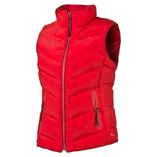 Жилет Ferrari Down VestКуртки, жилеты<br>Жилет Ferrari Down Vest<br>Стильный и теплый жилет Ferrari Down Vest создан специально для любителей автоспорта. Технология warmCELL удерживает тепло, сохраняя оптимальную температуру тела в холодную погоду<br><br>Коллекция: Осень-зима 2016<br>Состав: 67% нейлон, 33% полиэстер; водонепроницаемое покрытие<br>Технологии: warmCELL<br>Страна-производитель: Тайвань<br><br><br>size RU: 44-46<br>gender: Female