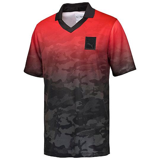 プーマ PUMA X TRAPSTAR FOOTBALL TEE メンズ Barbados Cherry-TRAP CAMO【メンズウエア  Tシャツ】PUMA プーマ【サイズ XS,S,M,L/その他】メンズ~~アパレル~~Tシャツ