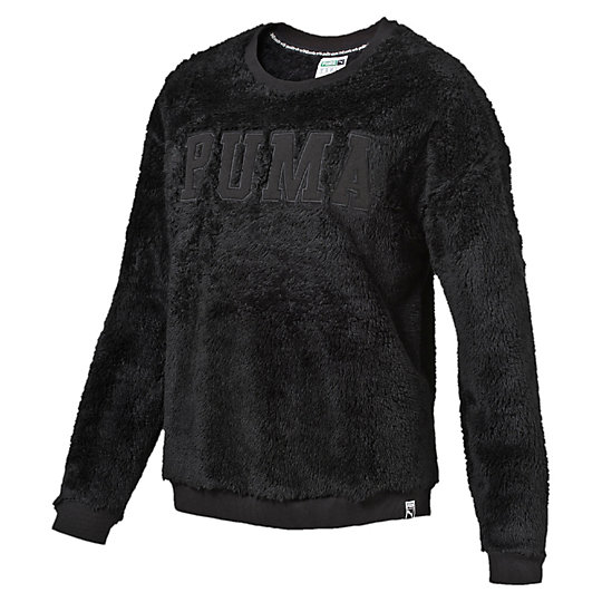 プーマ TEDDY CREW SWEAT ウィメンズ Puma Black