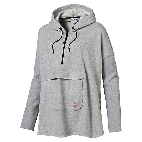 プーマ EVO HOODED CAPE ウィメンズ Light Gray Heather