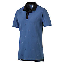 Men's Suede Embroidery Polo