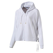 Women's Satin T7 Hooded Sweat Jacket