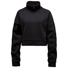 CROPPED NECK ZIP PULLOVER