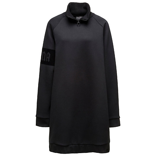 プーマ OVERSIZED NECK ZIP PULLOVER ウィメンズ Cotton Black