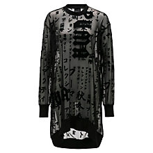 SHEER GRAPHIC OVERSIZED LONG SLEEVE T-SHIRT