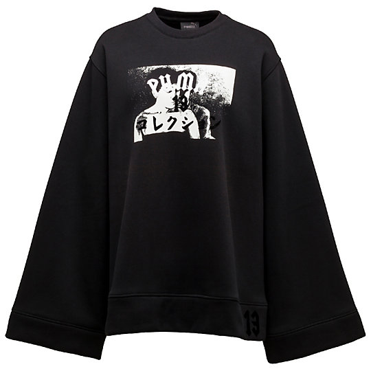 プーマ FLEECE CREW NECK ウィメンズ Cotton Black