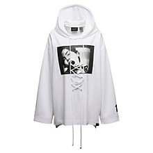 LONG SLEEVE GRAPHIC FRONT LACING HOODIE