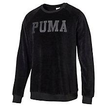 Men's Oversized Velvet Sweater