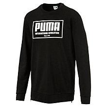 Männer Urban Langes Übergroßes Sweatshirt mit Reißverschluss