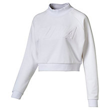 Frauen Cropped High-Neck Sweatshirt