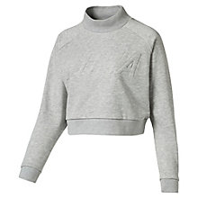 Women's Cropped High-Neck Sweater