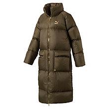 Manteau long en plumes d'oies pour femme