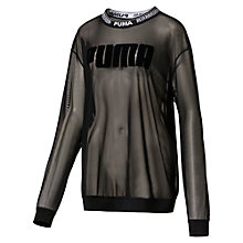 Women's Mesh Crew Sweater