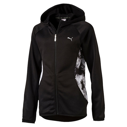 Active Girls' AOP Hooded Jacket