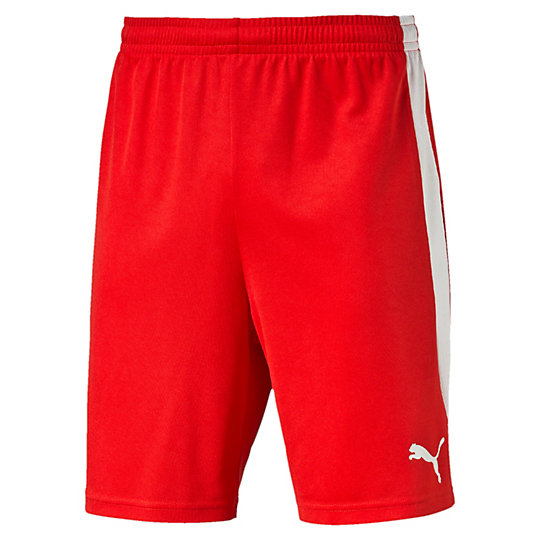 Шорты ftblTRG ShortsШорты<br>Шорты ftblTRG Football Training ShortsЭти шорты сделаны из мягкого материала пике, благодаря чему идеально подходят для тренировки на поле. Высокотехнологичные материалы выводят влагу наружу, сохраняя сухость и комфорт во время тренировки.Коллекция: Осень-зима 2016Состав: 100% полиэстер; влагоотводящая обработка на основе биотехнологийТехнологии: dryCELLВид спорта: ФутболЦвета: красный, голубой, черныйСетчатые боковые вставки PUMA FormstripЭластичный пояс с затягивающимся шнуромКлассический покрой<br><br>size RU: 50-52<br>gender: Male