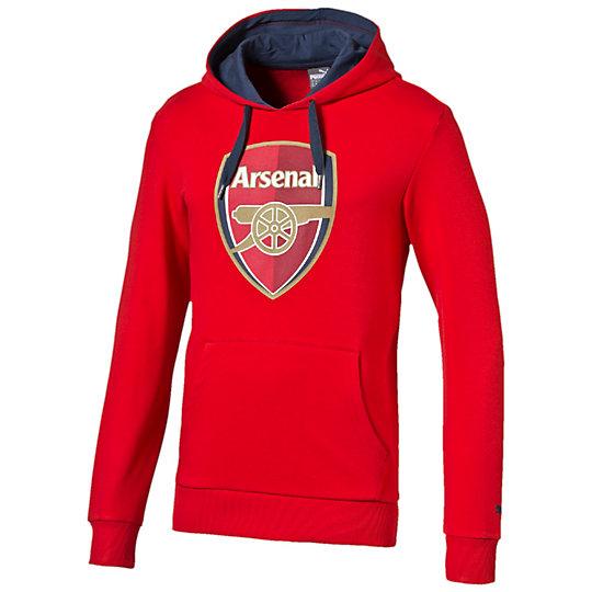 Толстовка Arsenal Fan HoodyТолстовки и худи<br>Толстовка Arsenal Fan Hoody Отличающаяся удобным кроем, толстовка Arsenal Fan Hoody создана для настоящих болельщиков. В ней вы будете чувствовать себя комфортно и уютно в прохладную погоду и будете всегда узнаваемы как истинный фанат лондонского футбольного клуба. Она отлично сочетается с любой другой одеждой, поэтому будет отличным дополнением к вашему гардеробу. Толстовка оформлена изображением логотипа PUMA и эмблемой футбольного клуба Arsenal.Коллекция: Весна-лето 2016 годаСостав: 70% хлопок, 30% полиэстерВместительный карман-кенгуруКапюшон с кулискойЭластичные манжеты и низ изделия для комфортной посадки<br><br>color: красный<br>size RU: 44-46<br>gender: Male