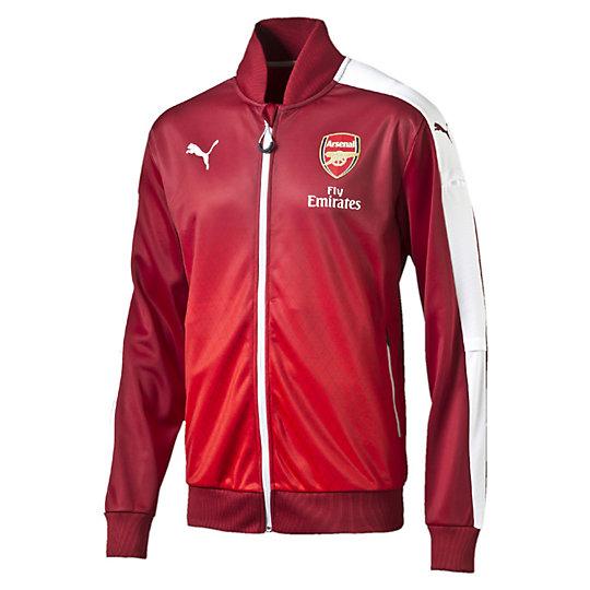 Олимпийка Arsenal Stadium JacketОлимпийки<br>Олимпийка Arsenal Stadium Jacket <br> Олимпийка Arsenal Stadium Jacket от Puma — олимпийка из специальной коллекции, которая позволит вам выигрывать не только на игровом поле, но и в процессе тренировок. С коллекцией PUMAs Licensed Club Teamwear – официальной игровой формой от PUMA, которая создана для вашего максимального комфорта и поддержки, необходимые результаты могут быть и обязательно будут достигнуты. <br> <br>Коллекция: Весна-лето 2016 года.<br>Тканная клубная эмблема Arsenal;<br>Логотип с изображением треугольника Arsenal Triangle;<br>Логотип PUMA;<br>Материал: 100% полиэстер.<br>Официальная лицензированная эмблема футбольного клуба Арсенал.<br><br><br>size RU: 50-52<br>gender: Male