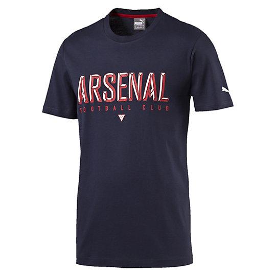 Футболка Arsenal Fan TeeФутболки и майки<br>Футболка Arsenal Fan Tee <br> Официальная экипировка для поклонников PUMA дает возможность каждому фанату носить цвета своей команды в любое время. Хлопковая футболка яркого красного цвета с принтом позволит почувствовать максимальную свободу движений и всегда быть готовым к победам. <br> <br>Коллекция: Весна-лето 2016 года.<br>Цветные графические вставки Arsenal FC.<br>Цветной принт PUMA.<br>Официальная лицензированная эмблема футбольного клуба Арсенал.<br>Материал: 100% хлопок..<br><br><br>color: синий<br>size RU: 48-50<br>gender: Male