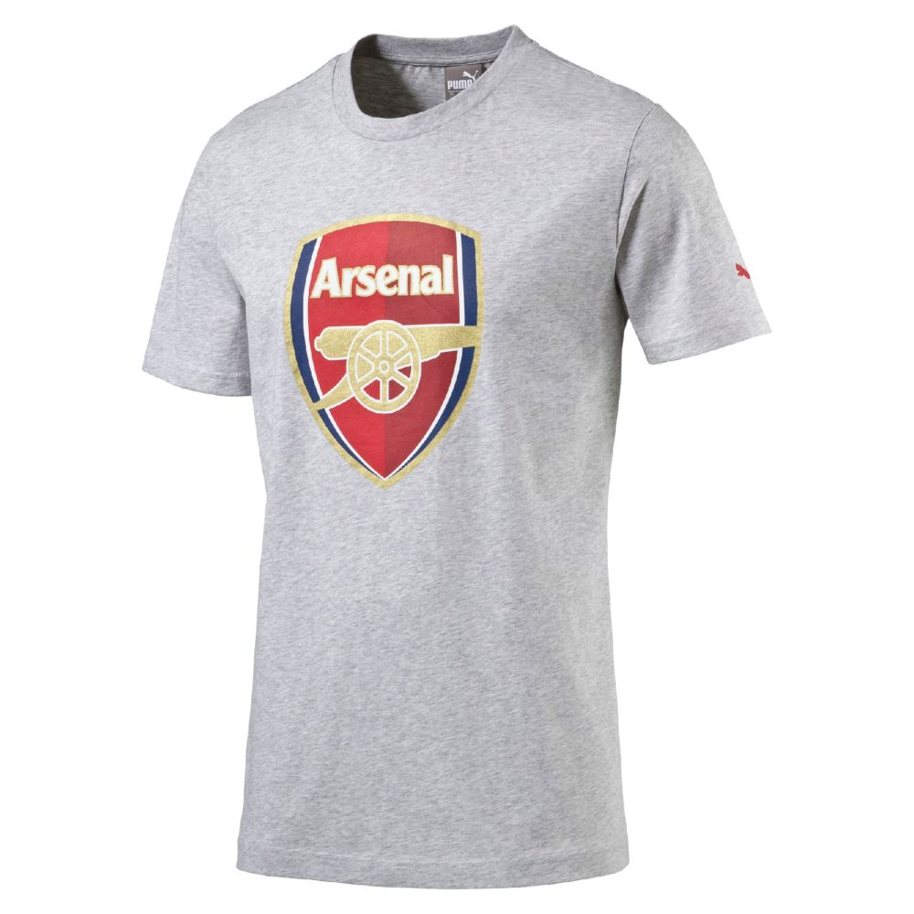 Puma arsenal crest fan slim t shirt ebay for Arsenal t shirts sale