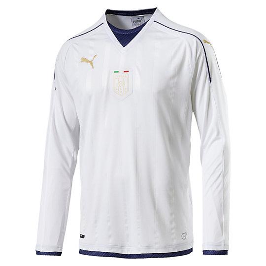 Italia 2006-2016 TRIBUTE Away Men's Replica Long Sleeve Jersey