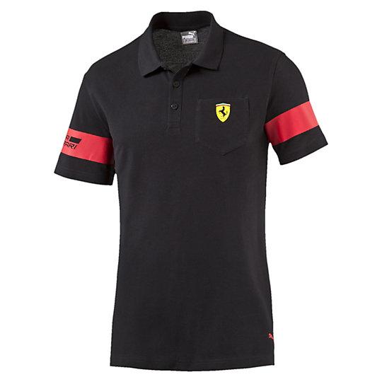Поло SF Polo 1Поло<br>Поло SF Polo 1<br>Поло SF Polo 1 от Puma - часть новейшей коллекции, созданной для поддержки поклонников легендарной компании Ferrari и фанатов гонок Формулы 1. Эта футболка украшена стильными и яркими логотипами Puma и Ferrari, оснащена удобным накладным карманом на груди для мелочей и модным воротничком-стойкой.<br><br><br> Коллекция: Весна-лето 2016 года<br> Полиуретановая эмблема Ferrari на кармане<br> Принт с логотипом PUMA<br> Принт с итальянским флагом<br> Принт Scuderia Ferrari<br> Накладной карман на груди<br> Материал: 100% хлопок<br><br><br>color: черный<br>size RU: 50-52<br>gender: Male