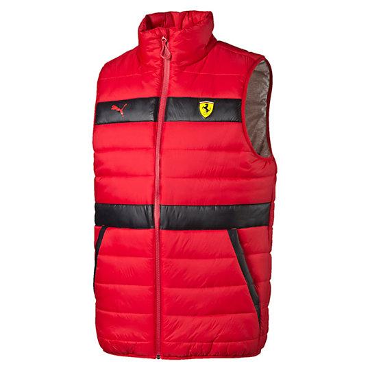 Жилет SF GiletКуртки, жилеты<br>Жилет SF Gilet<br>Эмблема Ferrari Shield из полиуретана; светоотражающий принт логотипа PUMA ; плотный принт с надписью Ferrari; светоотражающая лента.<br><br>Коллекция: Осень-зима 2016<br>Состав: 100% нейлон<br>Страна-производитель: Тайвань<br><br><br>size RU: 46-48<br>gender: Male