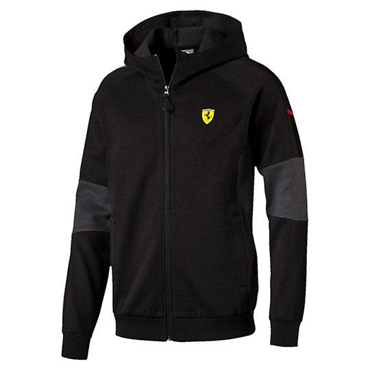 Толстовка SF Hooded Sweat JacketТолстовки и худи<br>Толстовка SF Hooded Sweat Jacket<br>Толстовка SF Hooded Sweat Jacket как бы говорит: «Со мной ты каждый день будешь на пределе скорости». Эта толстовка из коллекции PUMA Ferrari имеет классический дизайн и множество логотипов Ferrari.<br><br>Коллекция: Осень-зима 2016<br>Состав: 77% хлопок, 23% полиэстер<br>Капюшон<br>Застежка на молнии со специальным клапаном для защиты подбородка<br>Два боковых кармана<br>Контрастные боковые вставки<br>Логотип Ferrari на левой груди<br>Логотип PUMA на левом рукаве<br>Страна-производитель: Китай<br><br><br>size RU: 48-50<br>gender: Male