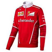 Ferrari Men's Team Half Zip Fleece Sweater