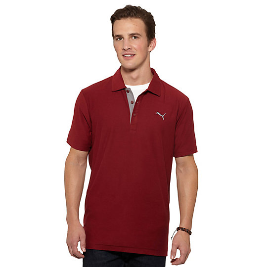 Jersey Contrast Polo Shirt
