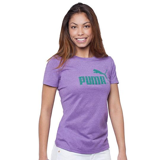 Heathered Reverse Logo T-Shirt
