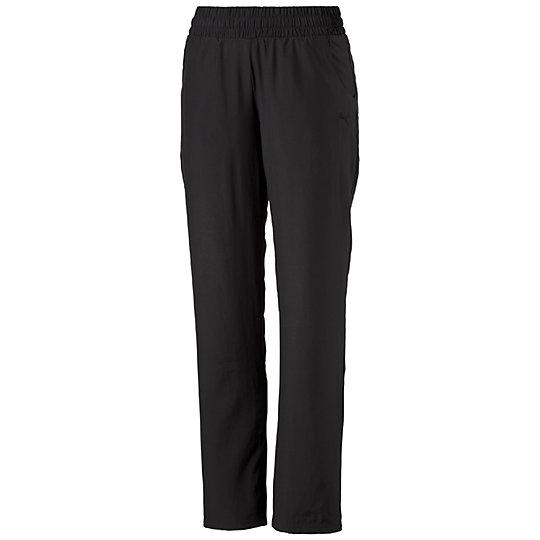 Спортивные брюки ESSБрюки и леггинсы<br>Спортивные брюки ESSСпортивные брюки ESS с вышитым логотипом PUMA Cat – удобный вариант для занятий спортом и активного отдыха. Ткань прекрасно отводит от тела излишки влаги и быстро сохнет. Модель отличается удобным кроем, благодаря чему предоставляет полную свободу действий во время тренировки. Стильные спортивные брюки для активных женщин!  Сезон: весна-лето 2015 года Состав: 100% полиэстер Обеспечивают комфорт и ощущение легкостиЭластичный пояс на кулиске для идеальной посадкиПрисутствуют боковые карманы<br><br>color: черный<br>size RU: 40-42<br>gender: Female