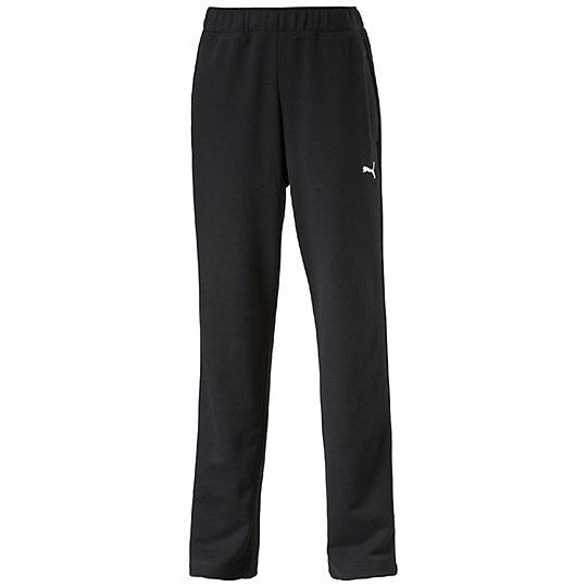 Брюки ESS SweatБрюки и леггинсы<br>Брюки ESS SweatСпортивные брюки ESS Sweat из мягкого, приятного телу материала идеально подойдут ведущему активный образ жизни мужчине. Модель имеет свободный крой, который очень удобен для занятий спортом. Оригинальный, стильный внешний вид брюк дополняет вышитый логотип PUMA Cat. Благодаря высокому качеству исполнения они прослужат вам не один год.Коллекция: весна-лето 2016 годаСостав: 70% хлопок, 30% полиэстерТкань поддерживает оптимальную температуру телаБрюки оснащены карманамиЭластичный пояс, оснащенный затягивающимися шнурами, обеспечивает максимально комфортную посадку<br><br>color: черный<br>size RU: 50-52<br>gender: Male