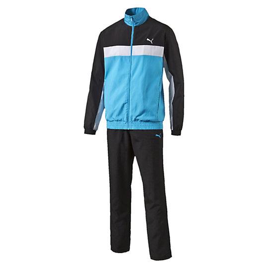 Спортивный костюм ESS WovenСпортивные костюмы<br>Спортивный костюм ESS WovenКуртка: вышитый логотип PUMA Cat, эластичные манжеты рукавов, боковые карманы. Брюки: вышитый логотип PUMA Cat, эластичный пояс с внутренними шнурками, боковые карманы.Коллекция: Весна-лето 2016<br><br>size RU: 46-48<br>gender: Male