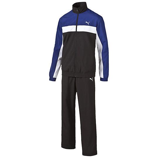 Спортивный костюм ESS WovenСпортивные костюмы<br>Куртка: вышитый логотип PUMA Cat, эластичные манжеты рукавов, боковые карманы. Брюки: вышитый логотип PUMA Cat, эластичный пояс с внутренними шнурками, боковые карманы.<br><br>size RU: Russia<br>gender: Male