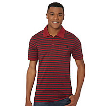 Bi-Color Striped Polo Shirt