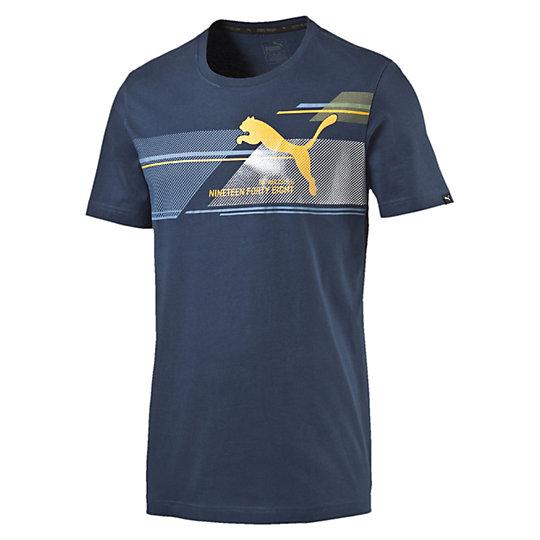 Футболка FUN Dry Graphic TeeФутболки и майки<br>Футболка FUN Dry Graphic Tee<br>С этим полупрозрачным, блестящим графическим принтом, эта футболка PUMA — яркая деталь любого гардероба.<br><br>Коллекция: Весна-лето 2016<br>Округлый воротник с резинкой.<br>Материал: 100%  хлопок.<br><br><br>color: синий<br>size RU: 48-50<br>gender: Male