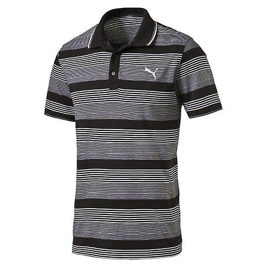 Поло FUN Dry Stripe Jersey PoloПоло<br>Поло FUN Dry Stripe Jersey Polo<br><br>Поло из хлопка в полоску обеспечит вам невероятный комфорт. Классическая расцветка понравится ценителя простого и лаконичного стиля.<br><br><br>        Коллекция: Весна-лето 2016 года.<br>        Вышивка логотипа PUMA Cat Logo.<br>        Рельефный воротник и манжеты на рукавах.<br>        Лента из полиэстера сзади на горловине.<br>        Материал: 100% хлопок<br><br><br>color: черный<br>size RU: 44-46<br>gender: Male