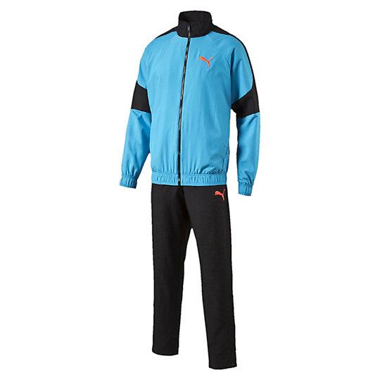 Спотривный костюм FUN Graphic Woven Suit opСпортивные костюмы<br>Спортивный костюм FUN Graphic Woven Suit op<br><br>Спортивный костюм из полиэстера отлично защитит от ветра и мелкого дождя в прохладное время. Голубая расцветка очень актуальна в новом сезоне, поэтому вы сможете быть в центре внимания в любой ситуации вместе с Puma.<br><br><br>        Коллекция: Весна-лето 2016 года.<br>        Куртка: Графический принт на спине.<br>        Вышивка логотипа PUMA Cat.<br>        Эластичный пояс и манжеты.<br>        Боковые карманы.<br>        Брюки:Вышивка логотипа PUMA Cat.<br>        Эластичный пояс.<br>        Боковые вшитые карманы.<br>        Материал: 100% полиэстер<br><br><br>size RU: 44-46<br>gender: Male