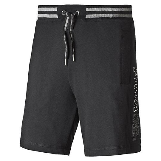 Шорты STYLE ATHL Sweat BermudaШорты<br>Шорты STYLE ATHL Sweat Bermuda<br><br>Шорты STYLE ATHL Sweat Bermuda от Puma -  отличные и удобные мужские шорты, которые станут незаменимым предметом вашего гардероба как в спортивном зале, так и в домашней обстановке, а также прекрасно подойдут и для стильного пляжного отдыха. Шорты украшены вышитым логотипом Puma, который расскажет всем окружающим о вашем отличном вкусе. В данной модели предусмотрены удобные карманы, в которых вы сможете носить нужные вам мелочи, что особенно актуально на отдыхе.<br><br><br>        Коллекция: Весна-лето 2016 года<br>        Графический принт с логотипом Puma<br>        Боковые карманы<br>        Материал: 70% хлопок, 30% полиэстер<br><br><br>color: черный<br>size RU: 44-46<br>gender: Male