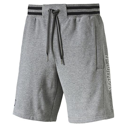 Шорты STYLE ATHL Sweat BermudaШорты<br>Шорты STYLE ATHL Sweat Bermuda<br><br>Шорты STYLE ATHL Sweat Bermuda от Puma -  отличные и удобные мужские шорты, которые станут незаменимым предметом вашего гардероба как в спортивном зале, так и в домашней обстановке, а также прекрасно подойдут и для стильного пляжного отдыха. Шорты украшены вышитым логотипом Puma, который расскажет всем окружающим о вашем отличном вкусе. В данной модели предусмотрены удобные карманы, в которых вы сможете носить нужные вам мелочи, что особенно актуально на отдыхе.<br><br><br>        Коллекция: Весна-лето 2016 года<br>        Графический принт с логотипом Puma<br>        Боковые карманы<br>        Материал: 70% хлопок, 30% полиэстер<br><br><br>color: серый<br>size RU: 46-48<br>gender: Male