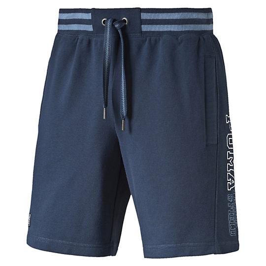 Шорты STYLE ATHL Sweat BermudaШорты<br>Шорты STYLE ATHL Sweat Bermuda<br><br>Шорты STYLE ATHL Sweat Bermuda от Puma -  отличные и удобные мужские шорты, которые станут незаменимым предметом вашего гардероба как в спортивном зале, так и в домашней обстановке, а также прекрасно подойдут и для стильного пляжного отдыха. Шорты украшены вышитым логотипом Puma, который расскажет всем окружающим о вашем отличном вкусе. В данной модели предусмотрены удобные карманы, в которых вы сможете носить нужные вам мелочи, что особенно актуально на отдыхе.<br><br><br>        Коллекция: Весна-лето 2016 года<br>        Графический принт с логотипом Puma<br>        Боковые карманы<br>        Материал: 70% хлопок, 30% полиэстер<br><br><br>color: синий<br>size RU: 44-46<br>gender: Male