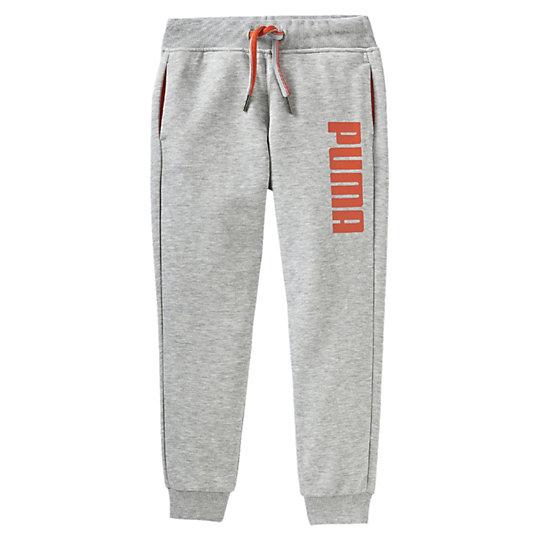 Брюки FUN Licensing Sweat Pants, uОдежда<br>Брюки FUN Licensing Sweat Pants, uБрюки FUN Licensing Sweat Pants от Puma -  это отличные спортивные детские брюки, которые подойдут для любых ситуаций, будь то тренировки, домашняя одежда или прогулка. Брюки созданы из эластичной и очень прочной ткани с высоким содержанием натурального хлопка и украшены ярким принтом с логотипом Puma. Эластичный пояс оснащен яркой оранжевой тесьмой, позволяющей точно и комфортно регулировать размер, а боковые карманы вместят любые нужные вещи &amp;amp;mdash; от ключей до телефона. Коллекция: Весна-лето 2016 года Вышитый принт с логотипом Puma Эластичный пояс с тесьмой для регулирования размера Боковые карманы Эластичные манжеты Материал: 70% хлопок, 30% полиэстер<br><br>color: серый<br>size RU: 128<br>gender: Unisex