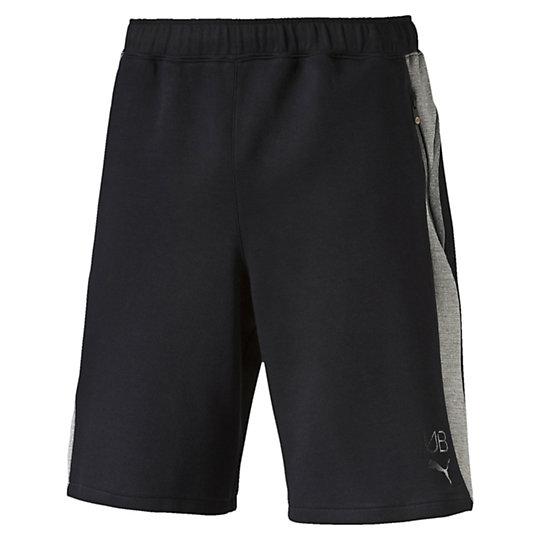 Шорты UB Evostripe ShortsШорты<br>Шорты UB Evostripe Shorts<br><br>Эти шорты от PUMA выпущены в динамичном дизайне, вдохновением для которого стала скорость Усэйна Болта, самого быстрого в мире человека.<br><br><br>        Коллекция: Весна-лето 2016 года.<br>        Детали:<br>        Эластичная резинка на талии с внутренним шнурком<br>        Передние карманы на молнии<br>        Боковые вставки сеточкой<br>        Материал: 77% хлопок, 23% полиэстер<br><br><br>color: черный<br>size RU: 50-52<br>gender: Male