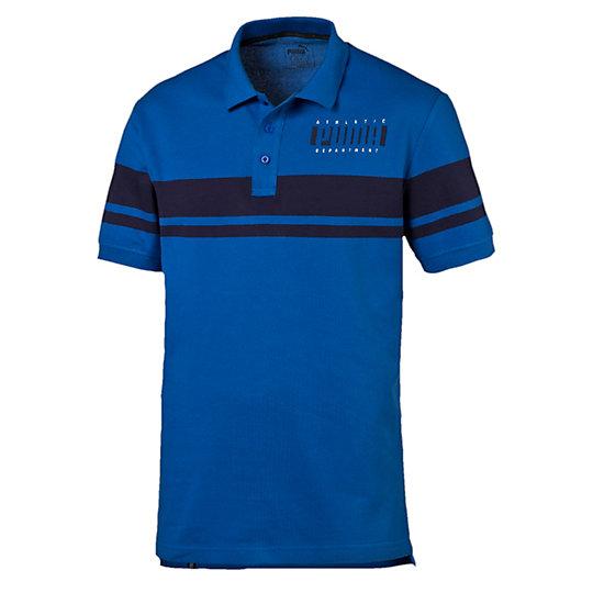 Поло Athletic PoloПоло<br>Поло Athletic Polo<br>Для любителей тренировок мы разработали рубашку-поло, которая подходит для любых физических нагрузок. Она обеспечивает комфорт и сухость, когда хочется позаниматься, но не хочется жертвовать стилем.<br><br>Коллекция: Осень-зима 2016<br>Состав: 100% хлопок<br>Технологии: dryCELL обладает влагоотводящими свойствами для обеспечения сухости и комфорта<br>Планка с тремя пуговицами<br>Полосы на груди и рукавах<br>Символика PUMA на груди слева<br>Страна-производитель: Бангладеш<br><br><br>size RU: 44-46<br>gender: Male