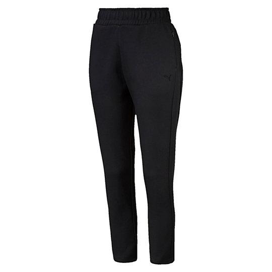 Брюки EVO Pants WБрюки и леггинсы<br>Брюки EVO Pants WЗнакомьтесь с коллекцией Evo. Она предназначена для повседневной носки, но высокотехнологичные детали, созданные для активного отдыха, добавляют ей спортивного шика. Наглядный пример: эти брюки в удобном дизайне подходят как для тренировок, так и для отдыха.Коллекция: Осень-зима 2016Состав: 77% хлопок, 23% полиэстер; двухсторонний трикотажЦвета: черный, серыйЭластичный пояс со внутренним шнуркомБоковые карманы на молнииВышитый логотип PUMA на левом бедреСтрана-производитель: Китай<br><br>size RU: 42-44<br>gender: Female