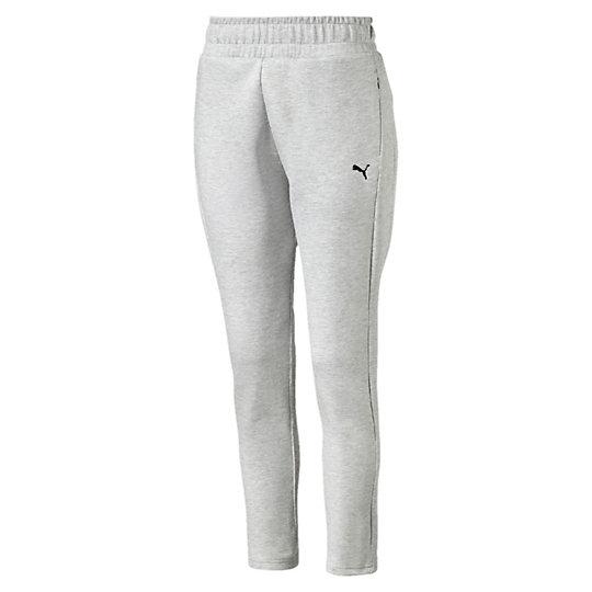 Брюки EVO Pants WБрюки и леггинсы<br>Брюки EVO Pants WЗнакомьтесь с коллекцией Evo. Она предназначена для повседневной носки, но высокотехнологичные детали, созданные для активного отдыха, добавляют ей спортивного шика. Наглядный пример: эти брюки в удобном дизайне подходят как для тренировок, так и для отдыха.Коллекция: Осень-зима 2016Состав: 77% хлопок, 23% полиэстер; двухсторонний трикотажЦвета: черный, серыйЭластичный пояс со внутренним шнуркомБоковые карманы на молнииВышитый логотип PUMA на левом бедреСтрана-производитель: Китай<br><br>size RU: 46-48<br>gender: Female