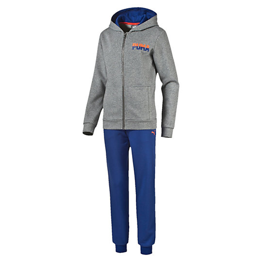 Спортивный костюм ACTIVE BEST Sweat Suit B cl.Одежда<br>Спортивный костюм ACTIVE BEST Sweat Suit B cl.<br>Куртка: графический принт из резины и высокоплотного материала на груди и спине; капюшон с сетчатой подкладкой; боковые карманы с эластичным проемом и закрепками; эластичная кромка и манжеты. Брюки: вышитый логотип в виде силуэта пумы; эластичные манжеты; прорезной карман с эластичным проемом.<br><br>Коллекция: Осень-зима 2016<br>Состав: 68% хлопок, 32% полиэстер<br>Страна-производитель: Китай<br><br><br>size RU: 152<br>gender: Boys